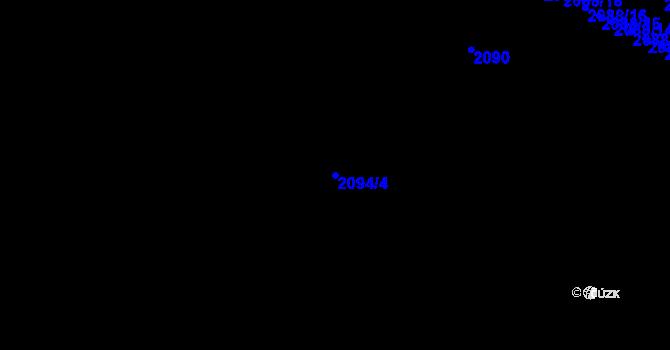 Parcela st. 2094/4 v k.ú. Znojmo-město, Katastrální mapa