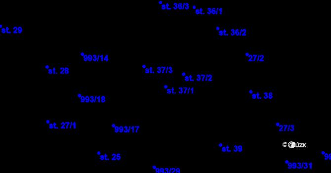 Parcela st. 37/1 v k.ú. Žďár u Blanska, Katastrální mapa