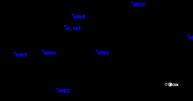 Parcela st. 489/2 v k.ú. Červená Hora, Katastrální mapa