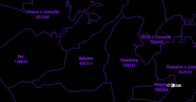 Katastrální mapa Babylon