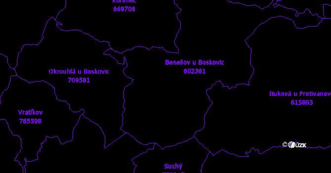 Katastrální mapa Benešov