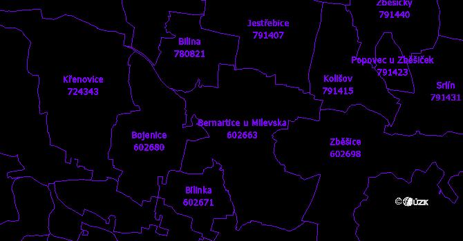 Katastrální mapa Bernartice