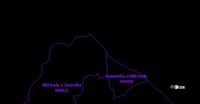 Katastrální mapa Bílá Voda