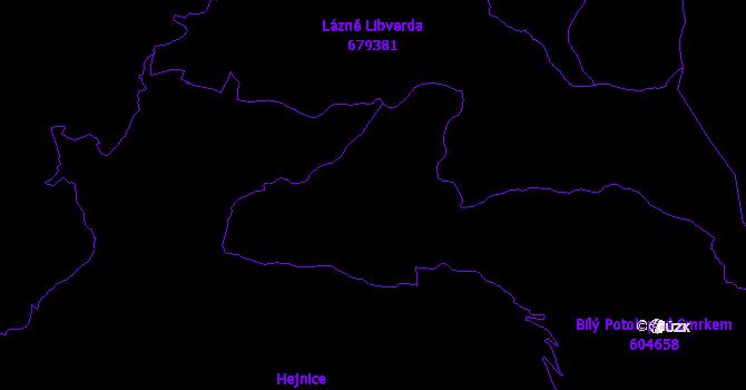 Katastrální mapa Bílý Potok