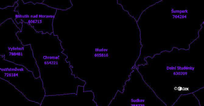 Katastrální mapa Bludov