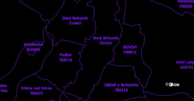 Katastrální mapa Bohumín