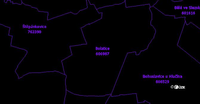 Katastrální mapa Bolatice