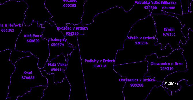 Katastrální mapa Brdy