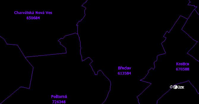 Katastrální mapa Břeclav