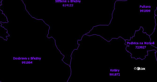 Katastrální mapa Březina
