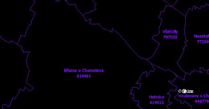 Katastrální mapa Březno