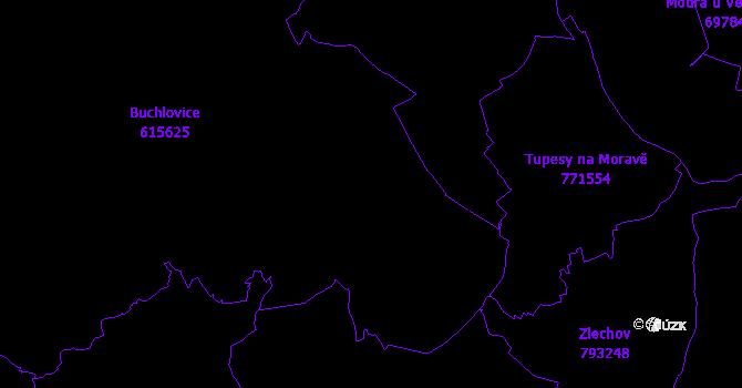 Katastrální mapa Buchlovice