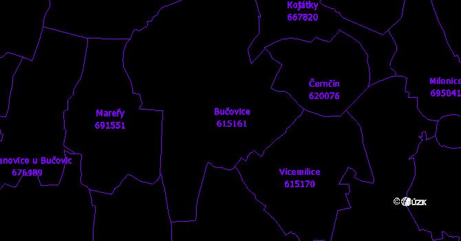 Katastrální mapa Bučovice