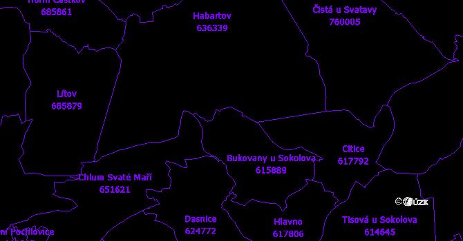 Katastrální mapa Bukovany