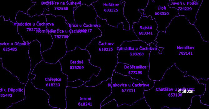 Katastrální mapa Čachrov