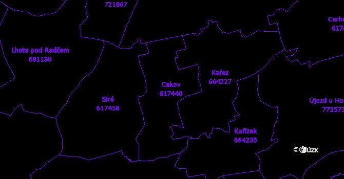 Katastrální mapa Cekov