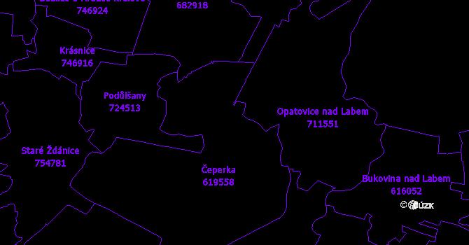 Katastrální mapa Čeperka