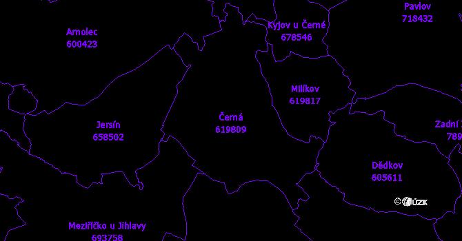Katastrální mapa Černá