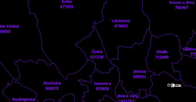 Katastrální mapa Česká