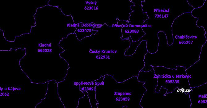 Katastrální mapa Český Krumlov