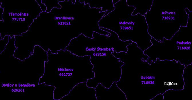 Katastrální mapa Český Šternberk