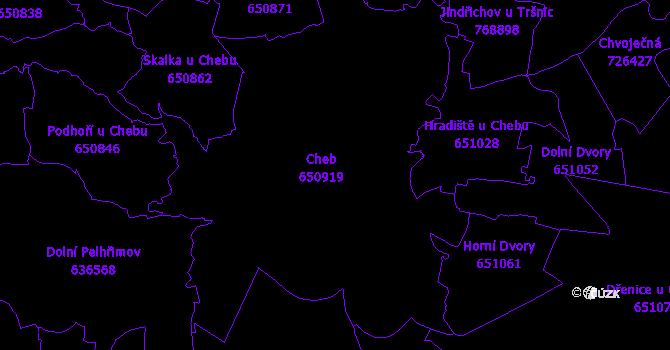 Katastrální mapa Cheb
