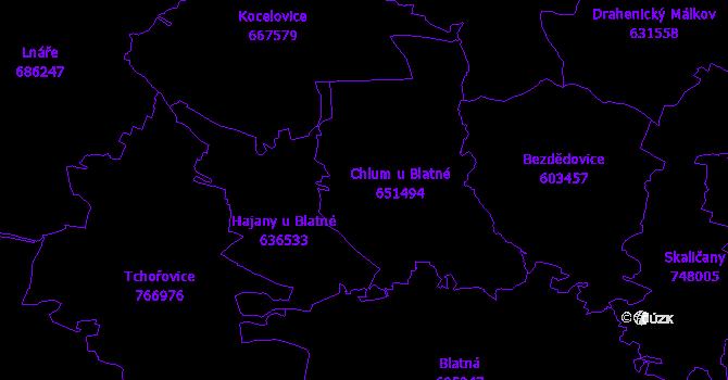 Katastrální mapa Chlum