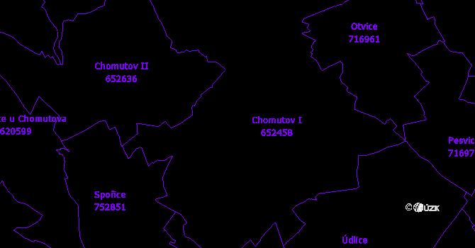 Katastrální mapa Chomutov