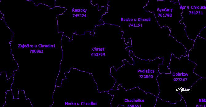 Katastrální mapa Chrast