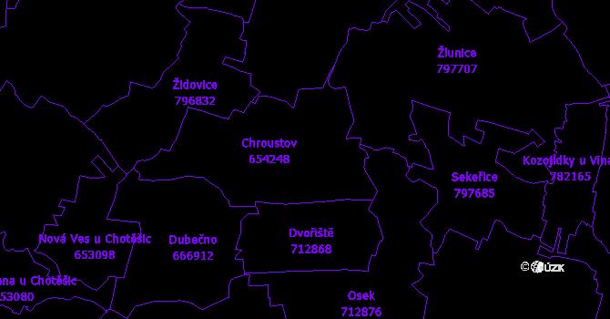 Katastrální mapa Chroustov