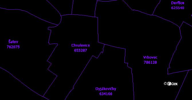 Katastrální mapa Chvalovice
