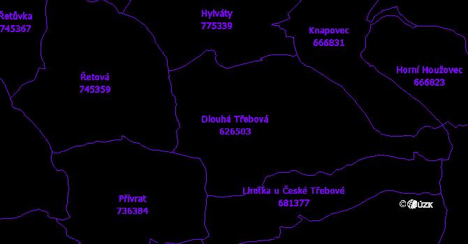 Katastrální mapa Dlouhá Třebová