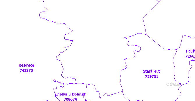 Katastrální mapa Dobříš