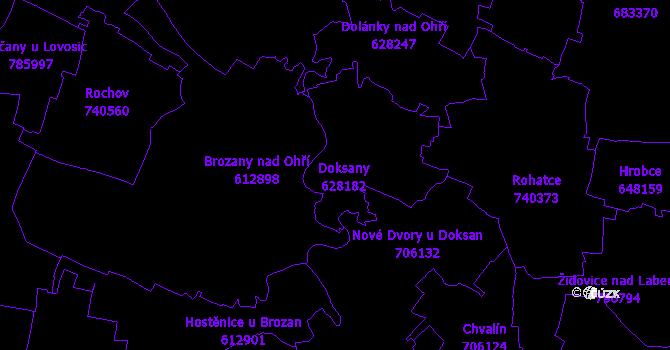 Katastrální mapa Doksany