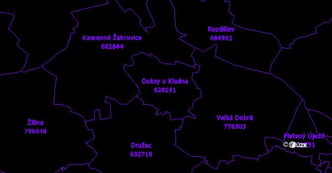 Katastrální mapa Doksy