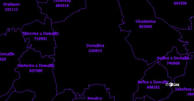 Katastrální mapa Domažlice