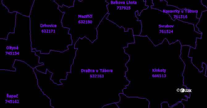 Katastrální mapa Dražice