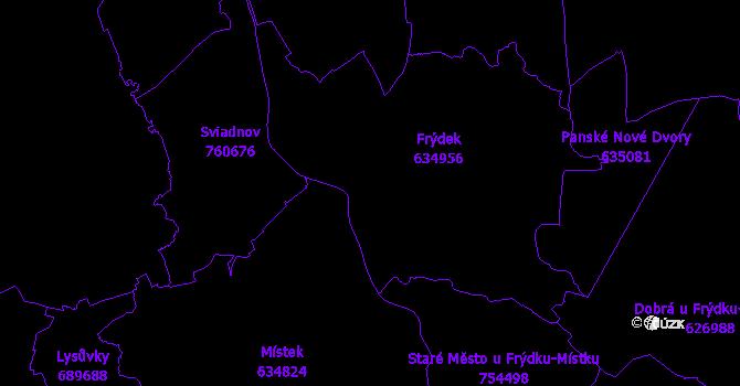 Katastrální mapa Frýdek-Místek