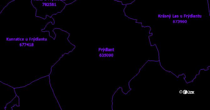 Katastrální mapa Frýdlant