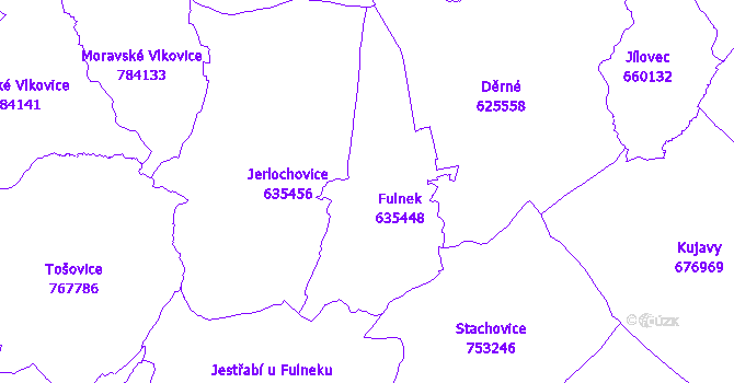 Katastrální mapa Fulnek