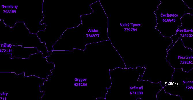 Katastrální mapa Grygov