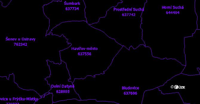 Katastrální mapa Havířov