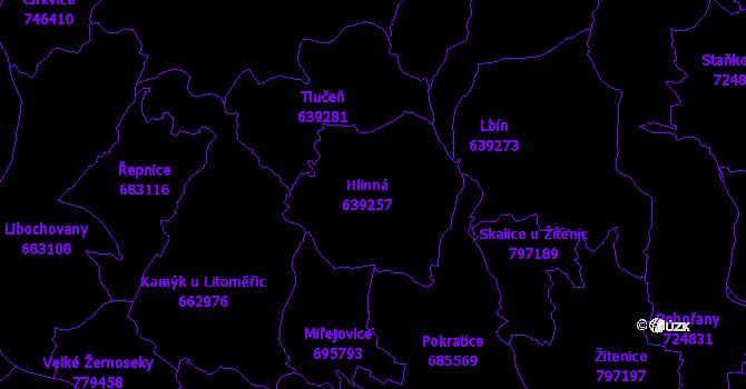 Katastrální mapa Hlinná