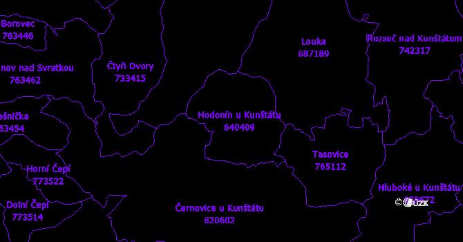 Katastrální mapa Hodonín