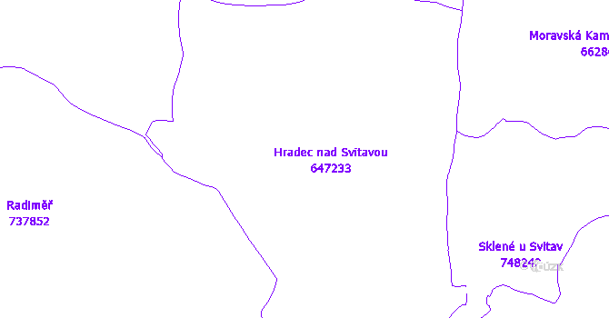 Katastrální mapa Hradec nad Svitavou