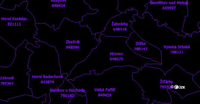 Katastrální mapa Hronov