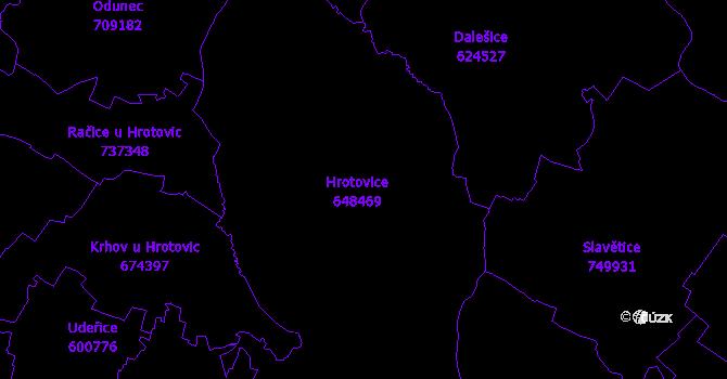 Katastrální mapa Hrotovice