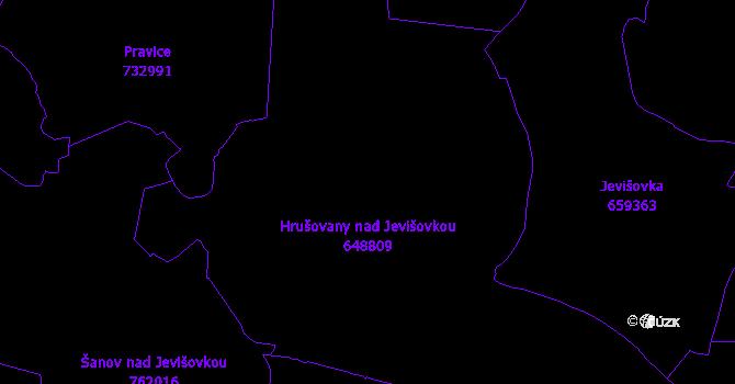 Katastrální mapa Hrušovany nad Jevišovkou