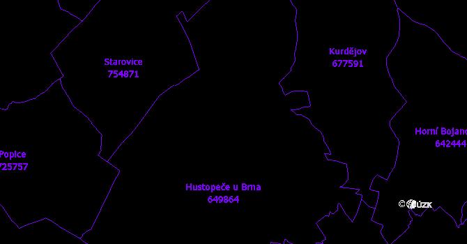 Katastrální mapa Hustopeče