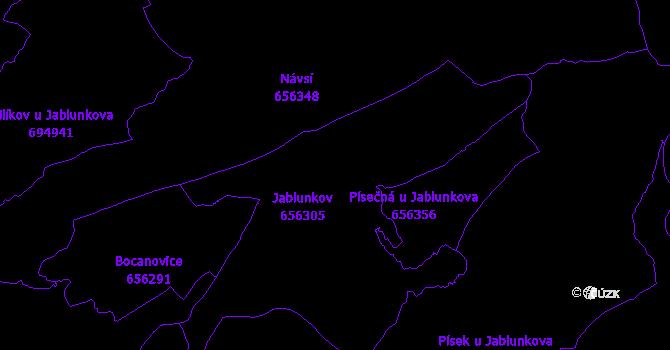 Katastrální mapa Jablunkov